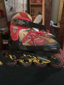 Disney Cars Rollerblades size youth 10-13