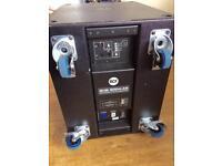RCF 18 inch Sub 8004 AS 1250watts! Subwoofer EV DB electronics FBT Yamaha Mackie bass bin