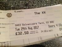The XX in Glasgow SWG3 Tuesday 29th Aug. Got 2 tkts