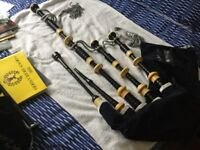 RG Lawrie Bagpipes Real Mounts