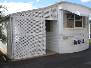 maison mobile en Floride a louer ou vendre a Hallandale