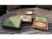 7 empty cigar boxes