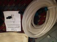 Birth pool accessories, submersible pump, mat and hose with attachments