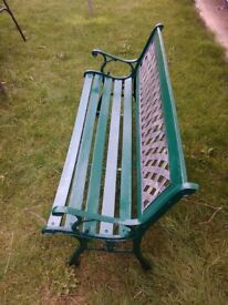 Cast iron garden bench can deliver locally