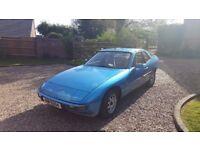 Porsche 924, 2.0L, Blue, Beige Interior