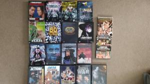 Wrestling WWE-WWF-WCW-TNA-GFW-ECW-UFC DVD's