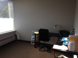 Fully furnished downtown office with parking for rent