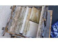 Coping - Riven Sandstone 'Premiastone' Chisel Edge - Golden Fossil