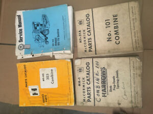 IHC & McCormick Combine & Harvester Thresher Manuals