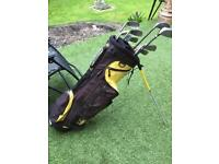 Hippo golf bag and clubs