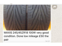 2 tyres( type in pic)