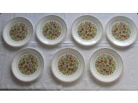 Corning Corelle 7 dinner plates, Indian Summer design