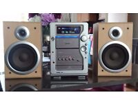 Aiwa stereo,cd,radio,tape,90w,remote control