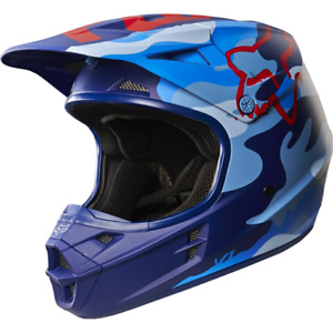 Fox V1 Blue Camo Helmet