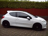 White Peugeot 207 GT 1.6 Petrol 3Door Leather seats Clean Tidy inside out *1 year Mot (96,000miles)