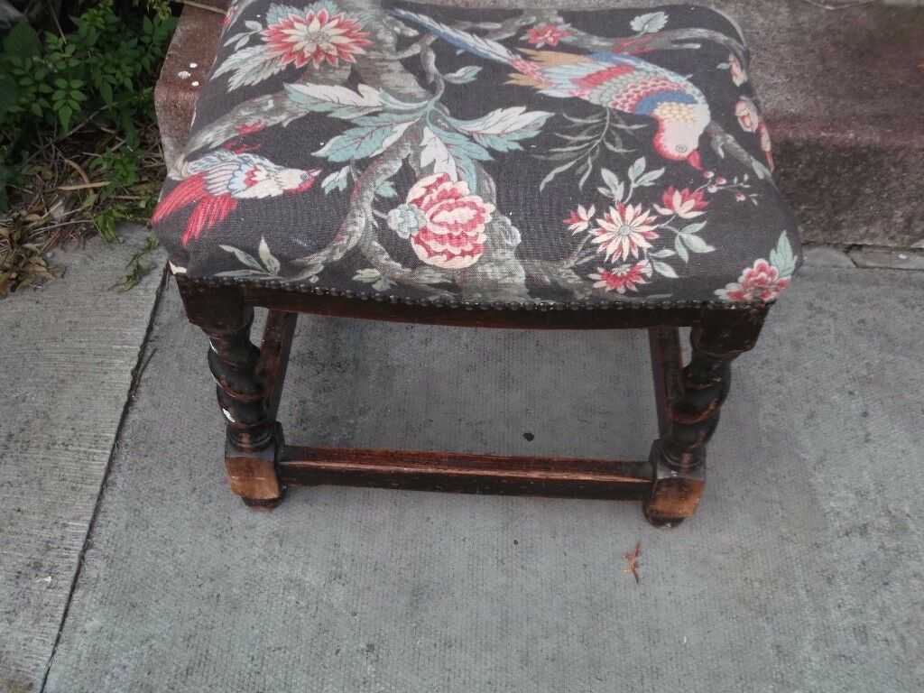 vintage mahogany barlytwsit stool