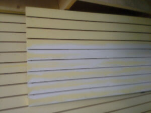 Slatwall and several mounting attachments for sale...