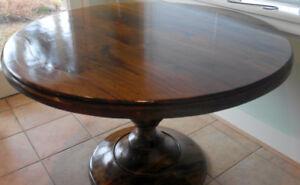 Round Pedestal Mango Wood Table