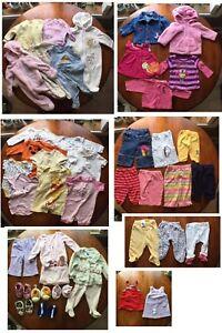 Lot de vêtements pour fille 3-6mois + 6mois