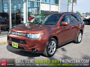 2014 Mitsubishi Outlander ES 4WD | Leather, Sunroof