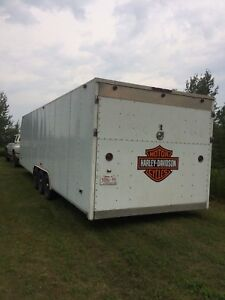 30' tri axle enclosed car hauler
