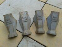 Cast Iron bath legs, 4, light grey