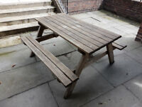 Garden / pub picnic bench. Heavy duty. Indoor / outdoor furniture.