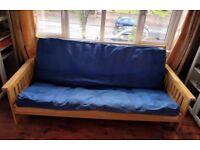 Wooden futon sofabed