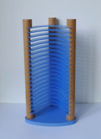 NEXT HOME Blue Plastic Wood CD Audio Visual Rack Storage £10