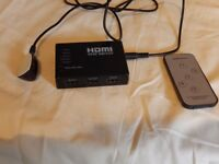 hdmi switch 5 way with remote