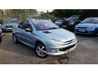 2005 PEUGEOT 206 CC, 1.6 PETROL, 1 FORMER KEEPER, FULL LEATHER, LOW MILEAGE, VERY GOOD CONDITION