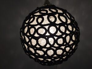 very cool! 1970s vintage large lucite swag light -