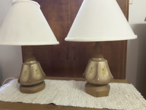 pair of hand-crafted table lamps