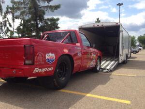 1988 Chevy S-10 Race/Drag Truck w/trailer