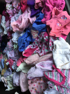 Baby girl 6-9 months clothing, good condition, bag 6