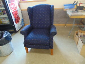 LAZY BOY WING CHAIR  RECLINER BLUE COLOUR