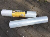 roll of cellophane 300 metres, 500 cm wide plus extra roll