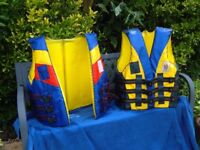 "TWO ""ABBA"" ADULT LIFE JACKETS"