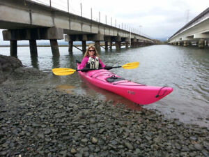 Excellent Condition Pink Necky Eliza Polymer Sea Kayak for sale