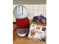 Nescafé Dolce Gusto coffee machine and pods