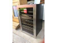 Cable WC6218 42 bottle in column wine cooler cabinet as new never used with box and guarantee card
