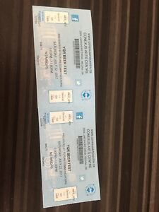 2 tickets beer fest Saturday night 80$ for both will deliver