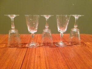 Verres en cristal / Crystal glasses - Mid-century