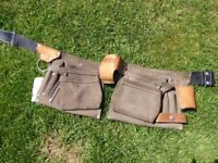 Carpenters Tool Belt, Leather and Suede 12 Pocket/Pouch