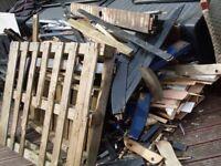 BROKEN WOOD PIECES FOR BURNING: FIREWOOD, WOOD STOVES, BOILER, BONFIRE, NOT LOGS - BARBEQUE, BBQ