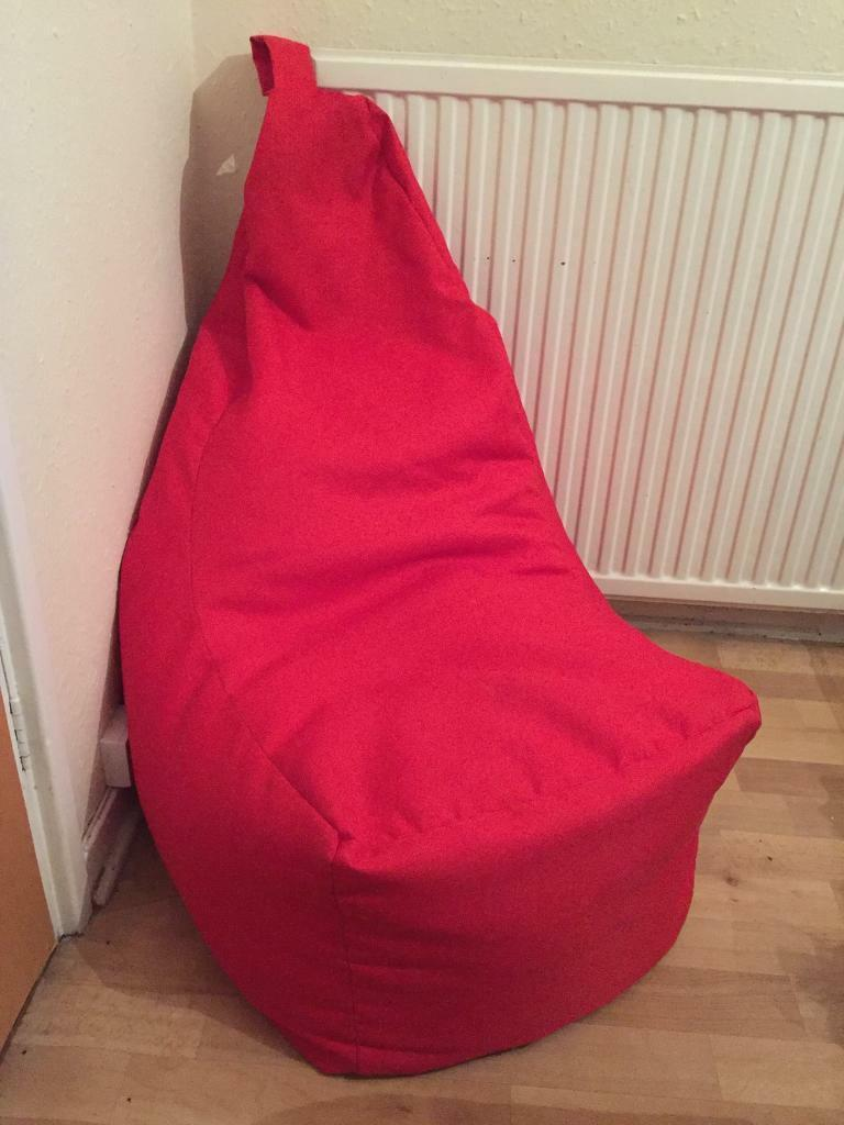 John Lewis Throne Bean Bag Red