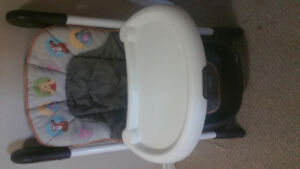 Pooh Bear and friends adjustable high chair