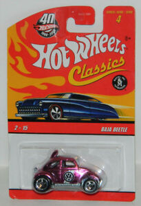 Hot Wheels Classics 1/64 VW Baja Beetle Pink Diecast Car