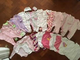 0-3 months girls summer bundle - baby grows 21 pieces