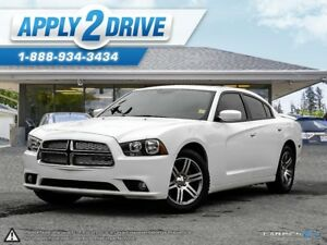 2014 DODGE CHARGER SXT  LEATHER Heated Seats  Sunroof Spoiler